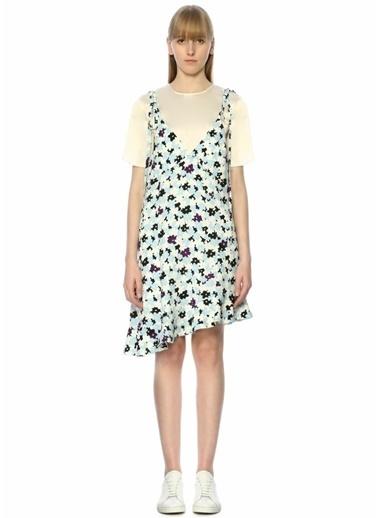 Kenzo Asimetrik Mini Elbise Renkli
